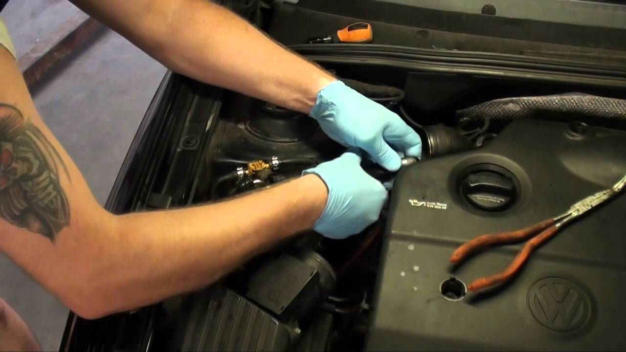 diesel fuel filter replacement vw jetta tdi youtube