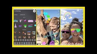 MTV NEWS -  Snapchat update adds animated stickers with GIFs from GIPHY, new Stories and Discover t