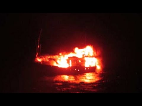 Fishing boat, allegedly from Pakistan, blows itself up at sea