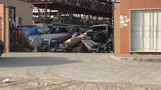 Abandoned cars dubai Rolls Royce