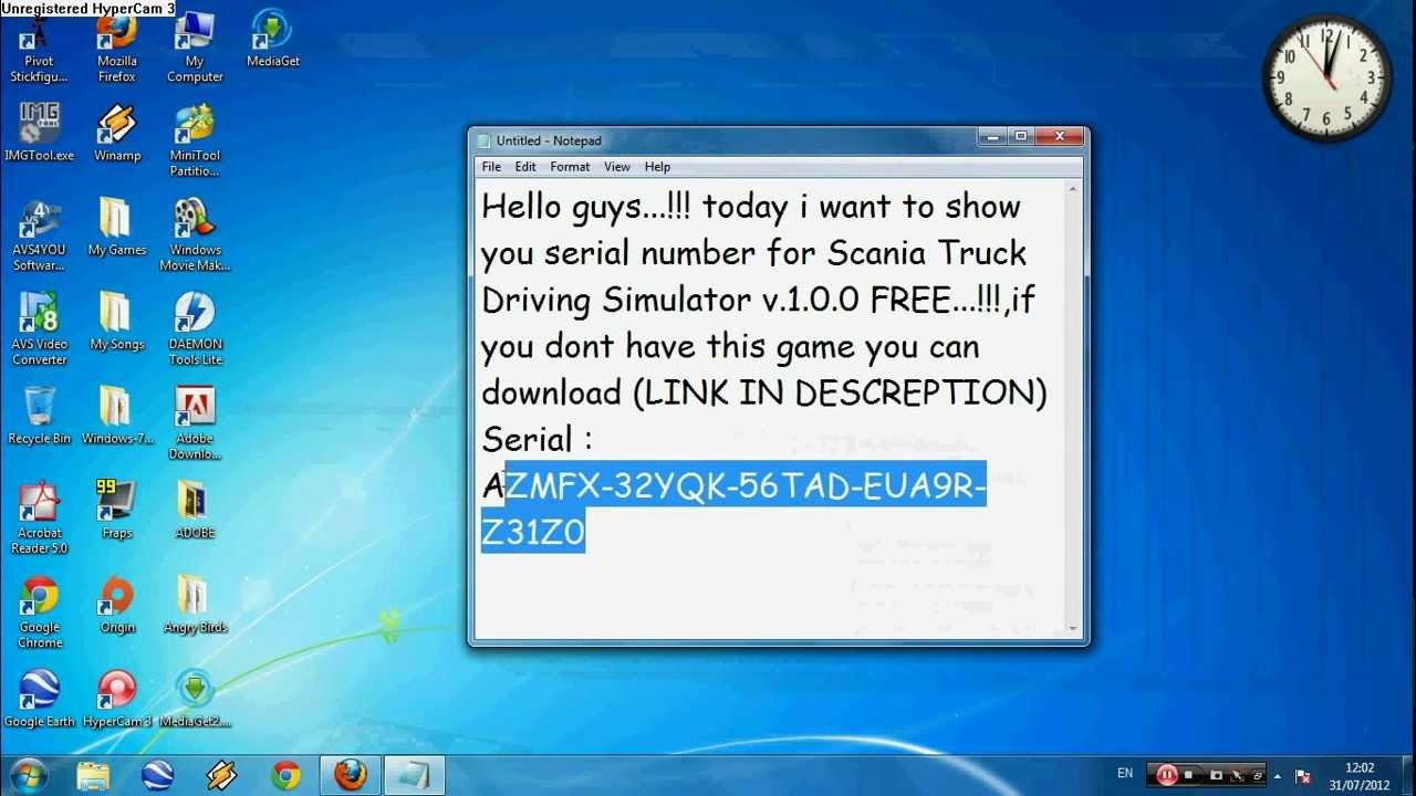 Serial Number SCANIA Truck Driving Simulator FREE!!! серийный номер для
