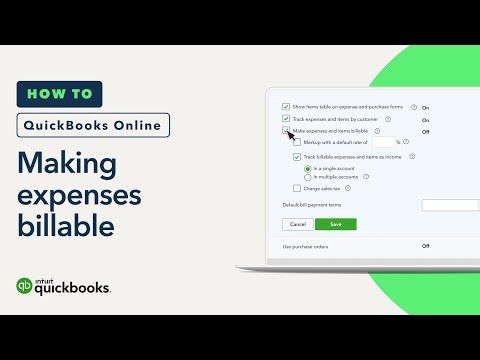 How to make expenses billable in QuickBooks Online