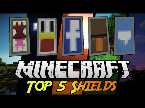 Top 5 Shield Designs! With tutorial! Minecraft 1.9