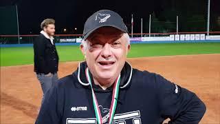 Il Presidente Bombacci del Forlì Softball dopo la vittoria dello scudetto