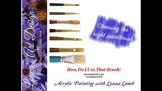 Beginner Acrylic Painting Tutorial How to use different brushes
