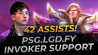 PSG.LGD.fy Invoker Support 42 Assists | Full Gameplay Dota 2 Replay
