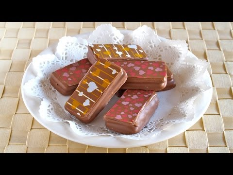 Printed Tim Tams (using Chocolate Transfer Sheets) for Valentine's Day 簡単プリントチョコ (GIVEAWAY CLOSED)