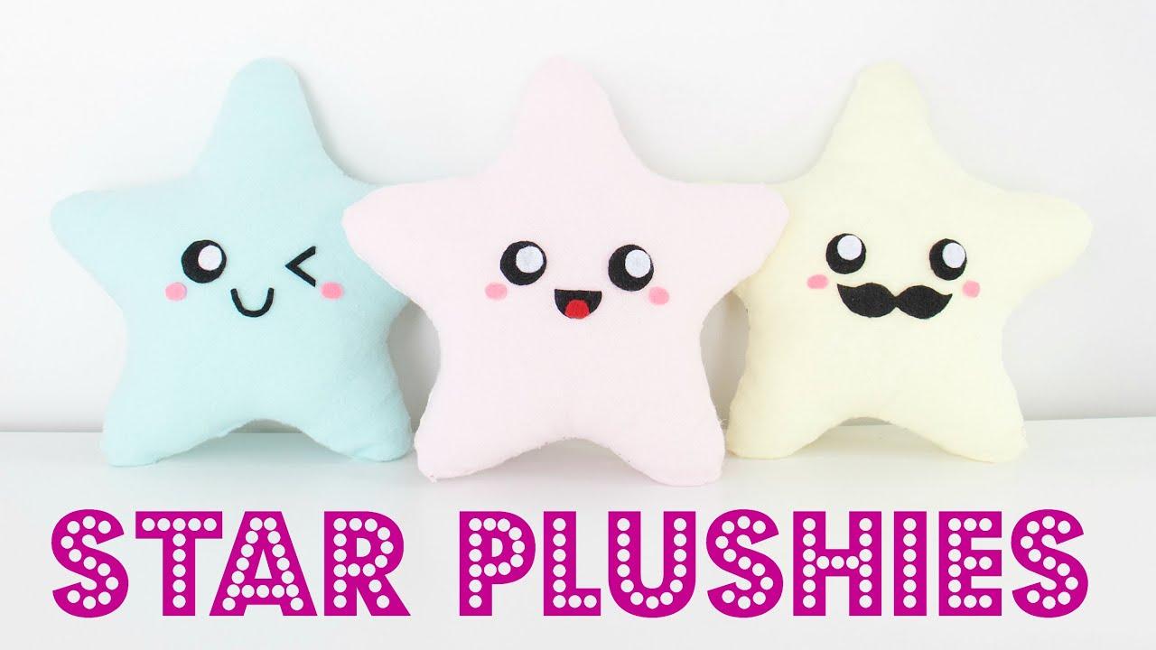 diy easy kawaii star plush pillows