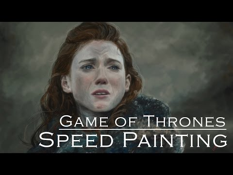 Speed Painting - Ygritte (Rose Leslie) from Game of Thrones