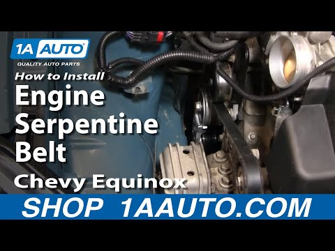 How To Install Replace Engine Serpentine Belt Chevy Equinox 3.4L 05-09 1AAuto.com