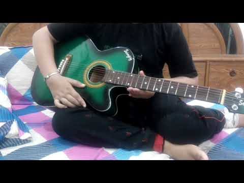 sa re ga ma on single String on guitar easy for beginers