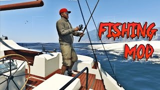 GTA 5 MOD - Fishing Mods V0.2.5 Gameplay