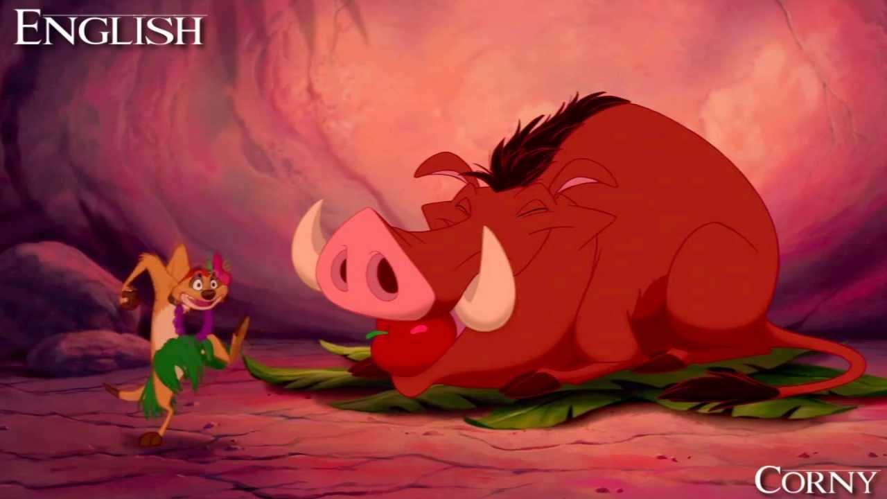 The lion king timon and pumba hula song