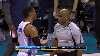WATCH: Russell Westbrook HITS Ref in the Head with Ball - Accident or Intentional?