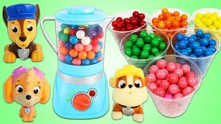 Paw Patrol Blend Gumballs in Toy Blender!