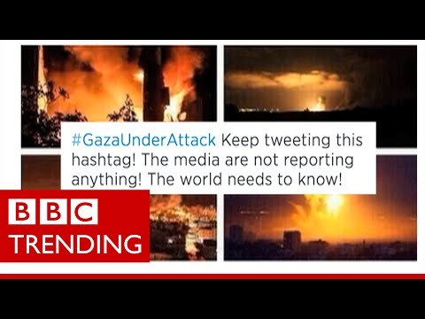 How accurate are images on social media of Gaza under attack? - #BBCtrending