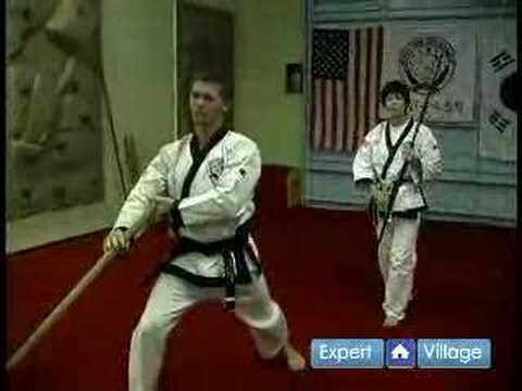 Tang Soo Do Korean Martial Arts : Staff Block & Spin in Tang Soo Do Martial Arts Image 1