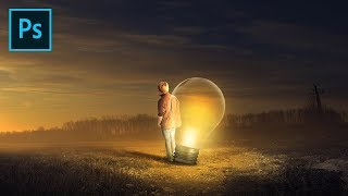 Light Bulb | Photoshop Tutorial Photo Manipulation Soft Light Effect