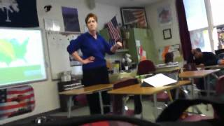Teacher freaks out cause some students were late!