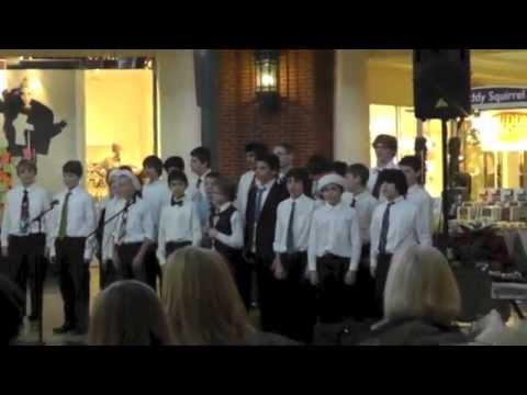Whitefish Bay, WI Middle School Boys Choir at Bayshore Town Center on December 17, 2012