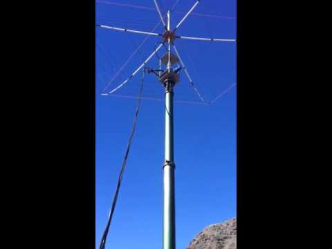 EA8TL HEXBEAM on SCAM 12 MAST