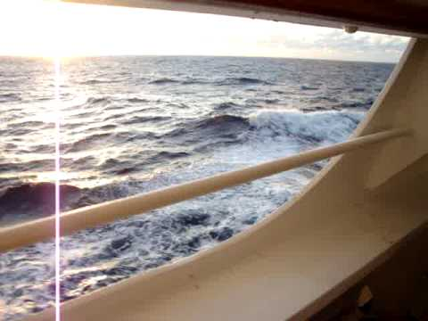 Carnival Dream view of the Sea from Cove Balcony