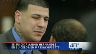 Se suicida Aaron Hernandez en su celda en Massachusetts