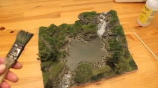 Modellbau Diorama Gewässergestaltung