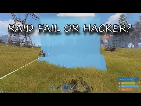 Raid Fail? Or Counter-raided by hacker? (Rust)