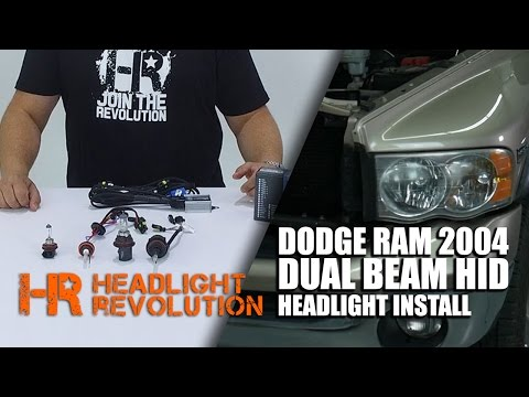 2004 Dodge RAM Dual Beam HID Install   Headlight Revolution