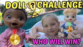 BABY ALIVE does a BIG COMPETITION! The Lilly and Mommy Show. The TOYTASTIC Sisters! FUNNY KIDS SKIT!