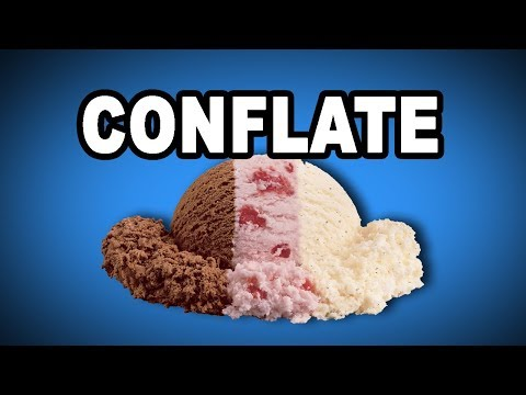 Learn English Words - CONFLATE - Meaning, Vocabulary Lesson with Pictures and Examples