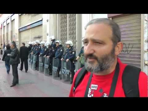Rushes from Greece -- Greek health workers on strike & on the streets