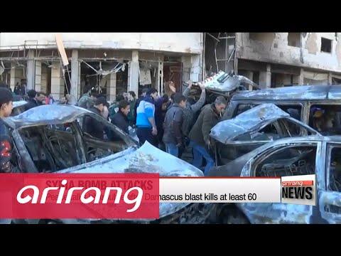 Syria peace talks hit trouble after Damascus blast kills at least 60