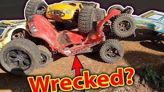 RC CAR DESTRUCTION DERBY  3v1 Poor Traxxas Slash 4x4