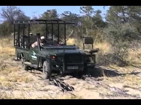 Getting the CC Africa Landrover out of the sand.(Botswana)