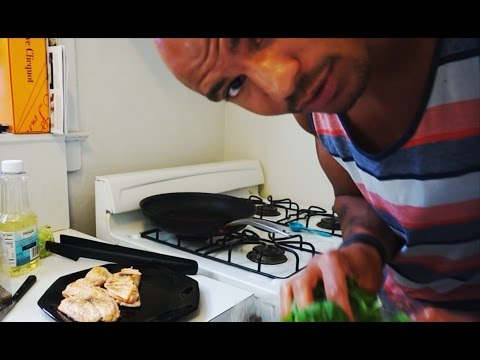 #KillerCarterCooking - Salmon and Sauteed Spinach - Low Carb Meal (Big Brandon Carter)