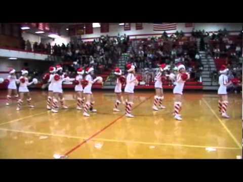 Erwin High School Varsity Cheerleaders Christmas Dance 2011.wmv video