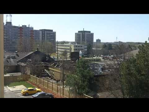 Timelapse of Fire Doused at UW (University of Waterloo) Plaza