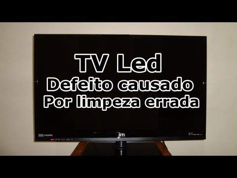 TV de Led - DEFEITO CAUSADO POR LIMPEZA ERRADA