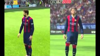 Fifa 15 vs Pes 2015 Comparacion Gameplay HD