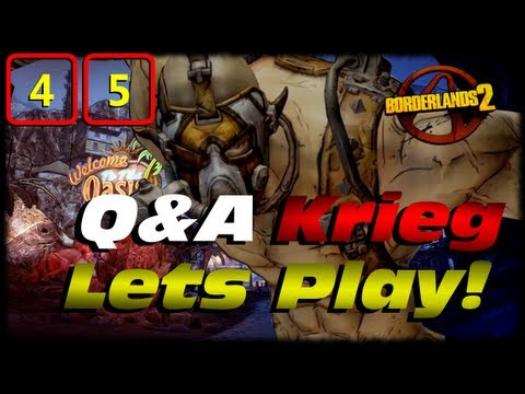 Borderlands 2 Krieg Q&A Lets Play Crossover Ep 45! Fatal God-Liath Evolution Transformation! TVHM!