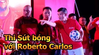 Thử Thách bóng đá DKP thi sút bóng mạnh với Roberto Carlos & Lê Công Vinh Đội trưởng ĐT Việt Nam
