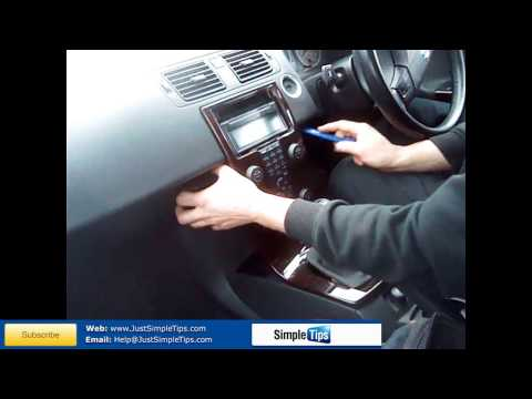 Radio Removal Volvo V50 Floating Dash | JustAudioTips