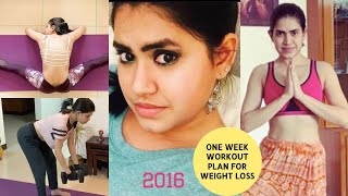 ONE WEEK FULL BODY workout PLAN for weight loss at home | How to plan workout to lose weight fast