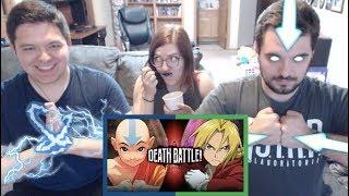 Aang VS Edward Elric | DEATH BATTLE REACTION!!!