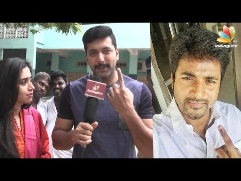 Sivakarthikeyan, Jeyam Ravi, Sneha and more celebs cast their vote | Tamil Nadu Election 2016