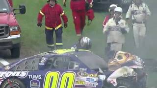 2011 Watkins Glen - David Reutimann and David Ragan hard crash