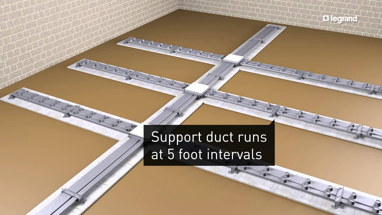 Wiremold How To Install Walkerduct Underfloor Ducts Youtube