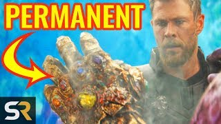 Marvel Theory: The Snap Will NOT Get Reversed In Avengers Endgame